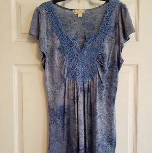 Live and Let Live Women's short sleeve tunic top